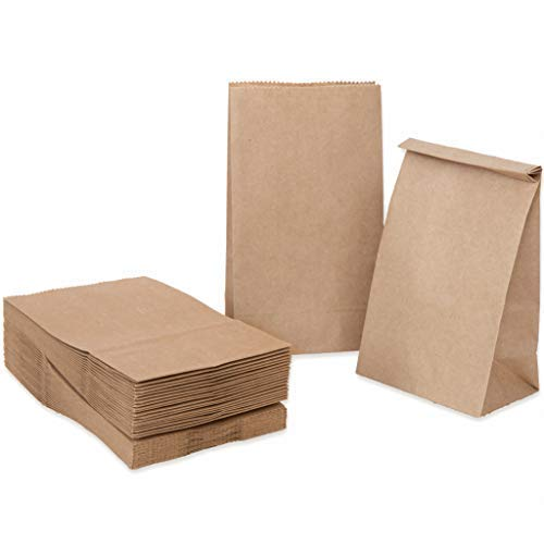 c4a75cfa9e2 100 Kraft marrón bolsas de papel con base 14 x 8 x.