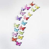 Macxy - Crystal 18Pcs 3D Schmetterlinge DIY Hauptdekor Wandaufkleber für Kindraum Weihnachtsfeier Dekoration Küche... preisvergleich bei billige-tabletten.eu