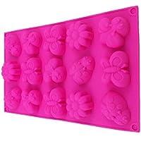 Farfalle e fiori Primavera stampo in silicone stampo Cioccolato stampini cupcake, biscotti, dolci, decorazioni fiori forme di cubetti di ghiaccio a forma di ROYAL Houseware - Fiori E Farfalle