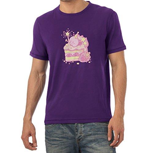 NERDO - Cake Time - Herren T-Shirt Violett
