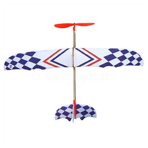 Cikuso Gummi Band Angetriebenes DIY Schaum Flugzeug Modell Kit Flugzeuge P?dagogisches Spielzeug (Flugzeug Starten Gummiband)