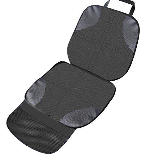 Coj/ín del asiento de coche L CONMING Asiento de autom/óvil de carb/ón de le/ña Asiento de interior de autom/óvil Asiento de cuero de PU y cubierta de carb/ón de bamb/ú de la cubierta 19.7 2 paquete x 20.5 W