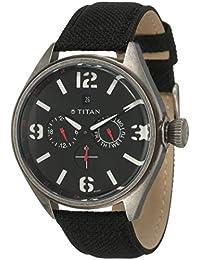 Titan Purple Multi-Function Analog Black Dial Men's Watch - 9478QF01J
