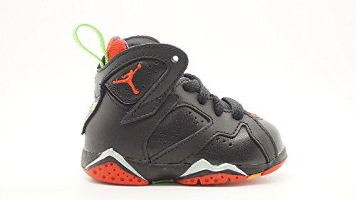 Nike Jordan 7 Retro BT, Zapatos de Primeros Pasos para Bebés, Negro/Rojo/Gris...