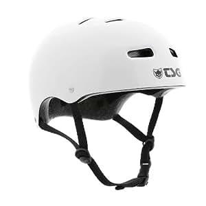 TSG Casque de vélo pour skate/BMX Solid Gloss Brillant Blanc SM