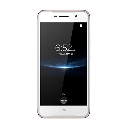 Homtom HT37 Pro - 5,0 Zoll 4G Smartphone, Android 7.0 Quad Core 3GB+32GB, Dual Kameras 8.0MP+13.0MP, Dual SIM, Fingerabdruck Scanner Entriegelte Handy, Rosé Gold