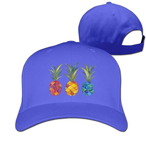 Xdevrbk Cappellino da Sole Unisex a Tre Ananas Nero multicolor5