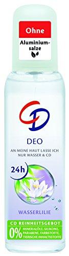 CD Deo Zerstäuber Wasserlilie – Deospray Zerstäuber ohne Aluminium für 24 Stunden Schutz im Vorratspack – 6er Pack (6 x 75 ml)