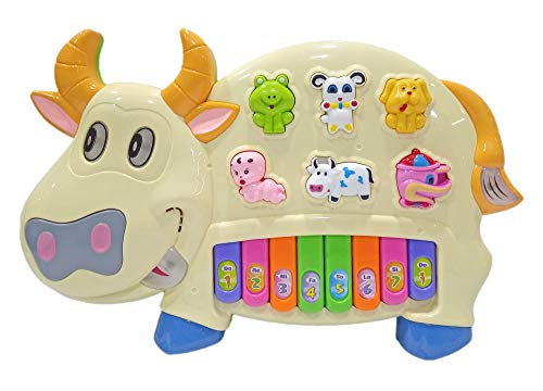 Popsugar Cow Music Organ Set with 3 Lights, Beige (Biege,TH6600BE)