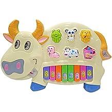 Popsugar Cow Music Organ Set with 3 Lights, Beige (Biege,TH6600BE)