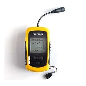 2012 Nouveau Détecteur / sondeur du poisson 100M avec écran et LED - sonar – équipement nécessaire pour les pêcheurs