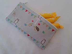 Handmade Oilcloth Tampon Case Holder - Sophie Allport Woodland Party Fabric