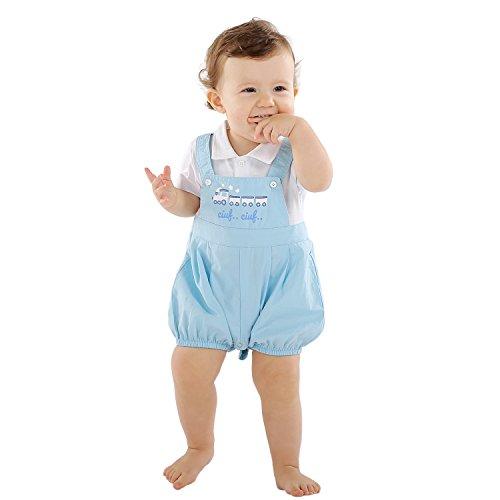 Bebone 2 piezas Bebé Niño Conjunto de top Camiseta Manga Corta y Pantalón Corto Algodón (6-9M)