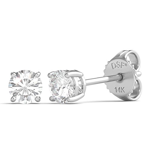 Diamond Studs Forever - Ohrstecker mit 1/4 ct. Diamanten GH/VS2-SI1 - Weißgold 14 Karat