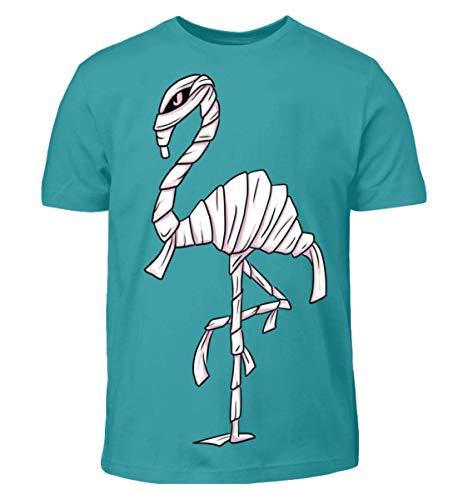 Flamummy - Flamingo Mumie - lustiges Outfit für Halloween, Flamingo-Freaks und Grufties - Kinder T-Shirt