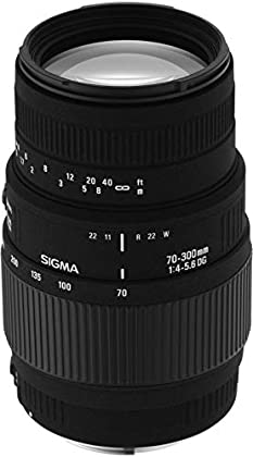 Sigma 70-300mm F4-5.6 DG Macro - Objetivo para Sony/Minolta (distancia focal 70-300mm, apertura f/4-32, diámetro: 58mm) color negro