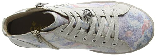 Rieker K1973, Baskets hautes fille Multicolore - Mehrfarbig (blau-multi/ice / 91)