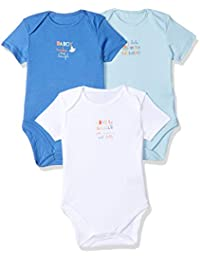 Mothercare Baby Boys' Regular Fit Cotton Bodysuit (Pack of 3)
