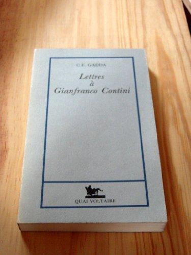 Lettres à Gianfranco Contini : [1934-1967]