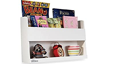 Tidy Books ® -The Original Bunk Bed Buddy™, Bunk Bed  Shelf. - Floating Shelves for Kids Storage next to Bunk Beds and Cabin Beds - Wooden Shelves - 33 x 53 x 12cm - low-cost UK light shop.