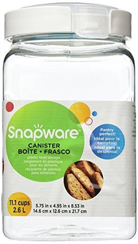 Snapware Dose quadratisch mit Griff, 11,1 Tassen/ 2,6 Liter (Snap-lock-kunststoff-behälter)