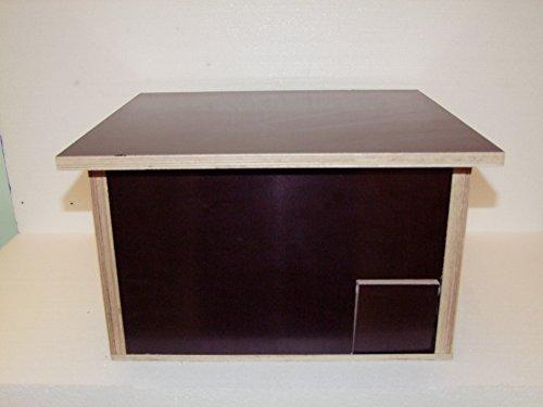 Galleria fotografica The Wood Man S _ 76: Riccio casa in tempo bestaendigen Serigrafia (resistente alle intemperie) Dimensioni: 48cm x 36cm X 27cm.