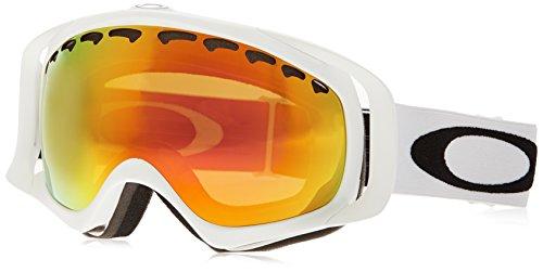 Oakley Uni Crowbar Sportbrille, Weiß (Matte White/Fireiridium), one size