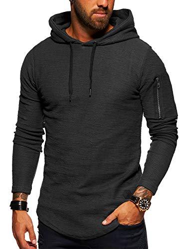 behype. Herren Oversize Kapuzen-Pullover Hoodie Sweat-Shirt 40-4722 Dunkelgrau L Oversize-kapuze