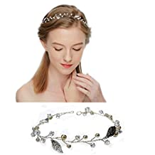 Diadema Flexible de Flores Brillante Elegante Tocados de Pelo Boda Fiesta de Perlas Ariticiales Rhinestone …