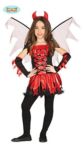 Feuerteufel Kostüm für Kinder Gr. 98 - 146, Größe:128/134 (Feuer Teufel Kostüm)