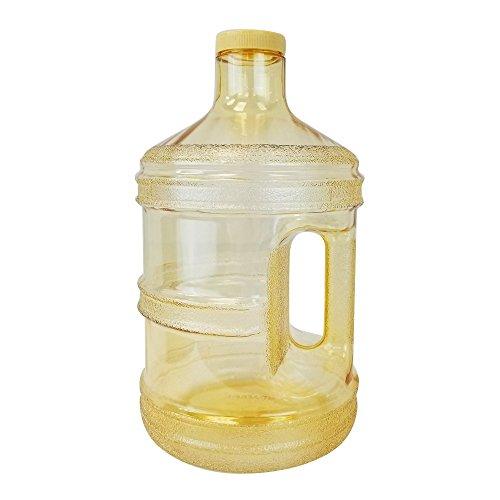 1Liter BPA-Frei wiederverwendbar Kunststoff Trinkwasser Big Mouth Flasche Krug Container mit Halter Trinken Kantine, gelb