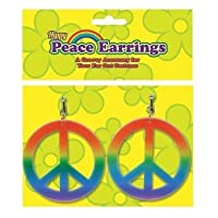 Peace Sign Rainbow Earrings 70S Hippy Hippie Chick Austin Powers Fancy Dress by Home & Leisure Online