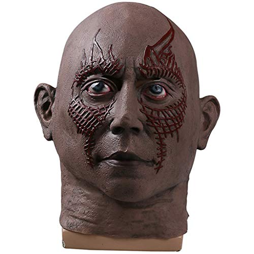 Drax Kinder Kostüm - Galaxy 2 Maske Drax The Destroyer Maske Cosplay Maske Perfekt für Karneval und Halloween Kostüm Latex Unisex,A,Within55~63CM