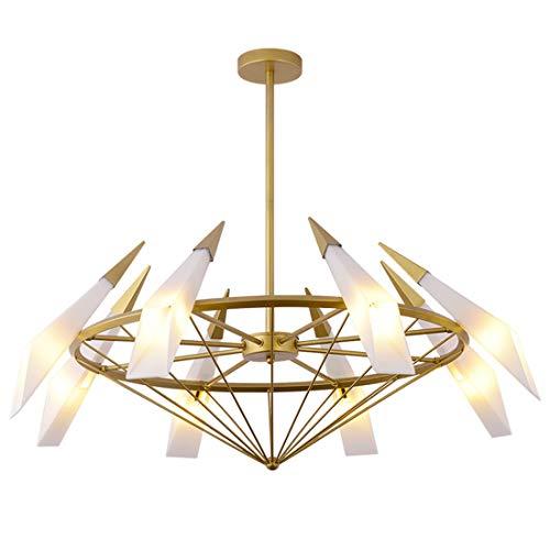 Zceillamp Moderne Cone LED Deckenleuchten Design Pendelleuchte Glasschirm 8 * G9 Lampen - Cafe Bar Loft Schlafzimmer Wohnzimmer Beleuchtung Dekoration Lampe -