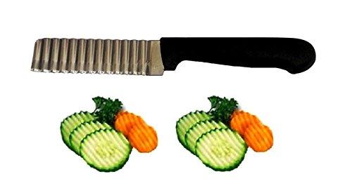 Garniermesser Dekoriermesser Wellenschneider Wellenschnitt Messer zum Schneiden und Dekorieren von Gemüse und Früchten in Wellenform