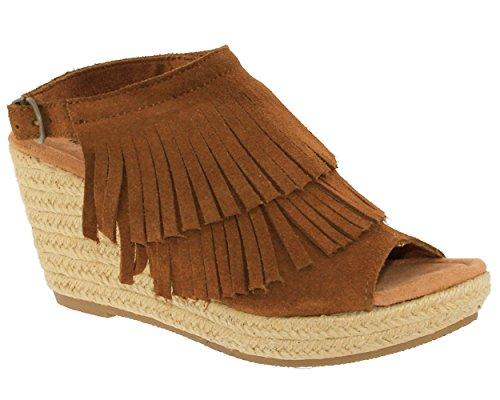 Minnetonka ,  Damen Sandalen, Braun - Braun - Dusty Brown - Größe: EU38 (Braun Minnetonka Sandalen)