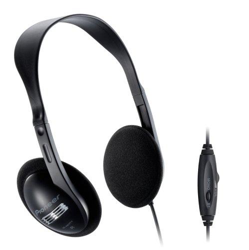 Pioneer se-a611tv cuffia audio full size con cavo da 5 metri e regolazione volume, nero