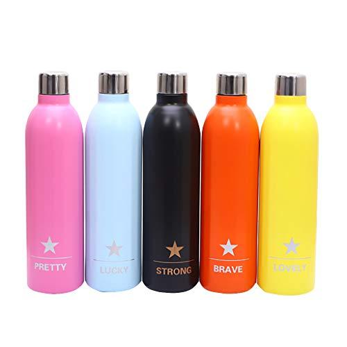 Rcool Bottiglia Acqua in Acciaio Inox, Portatile Bottiglia Termica, Sportiva Palestra Borraccia Senza BPA Termica Isolamento Sottovuoto a Doppia Parete, a Prova di perdite, 500ml (Pink)