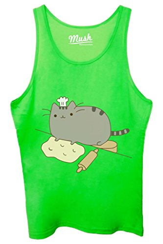 Canotta PUSHEEN IL GATTO 1 - FAMOSI by MUSH Dress Your Style - Donna-XL Verde Fluo