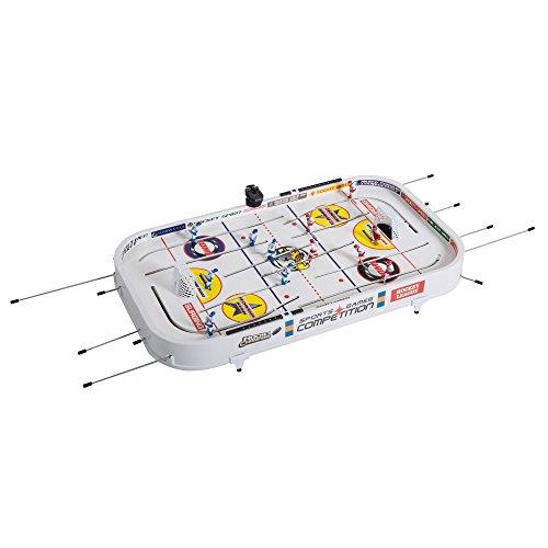 Homcom Set Hockey Sobremesa Juego Mesa de Hockey con Jugadores Móviles Hockey de Hielo para Niño +3 Años y Adultos 93.5x51x16.5cm PP
