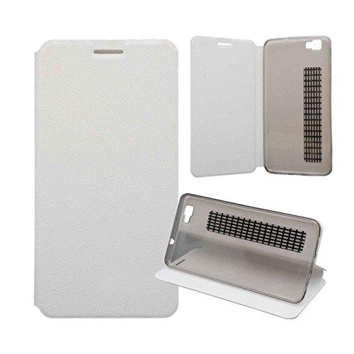 Guran® PU Leder Tasche Etui für CUBOT X15 Smartphone Flip Cover Stand Hülle Case-weiß