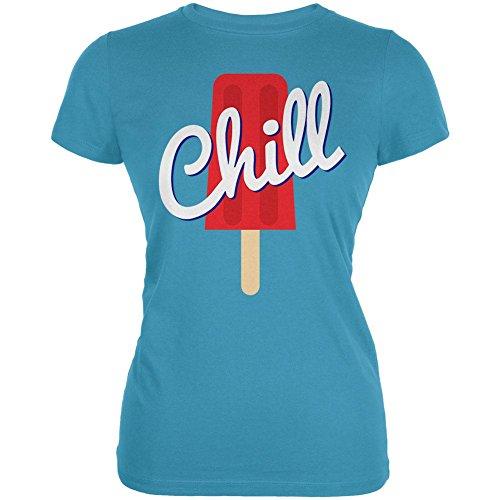 Sommersonne Eis Pop Chill Junioren weichen T Shirt Blue