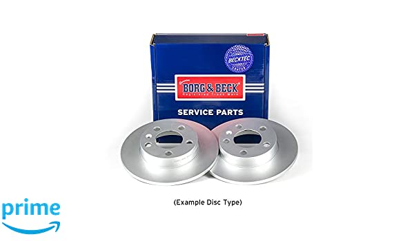 Rear Borg /& Beck BBD4792 Brake Disc Pair