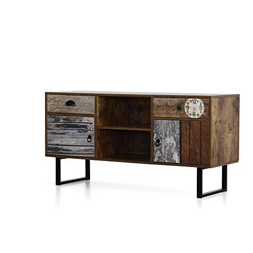 Italian Concept 26 Madia Porta TV Marte Shabby, Wood, Marrone, 120 x ...