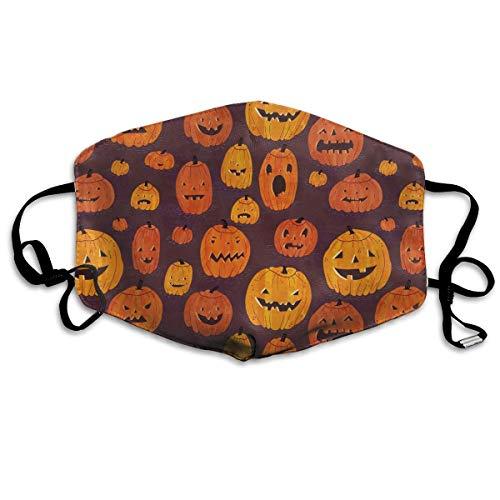 Masken für Erwachsene Waschbare wiederverwendbare MundMaskene, Cartoon Cute Halloween Pumpkin Reusable Anti Dust Face Mouth Cover Mask Protective Breath Healthy Safety (Erwachsene Für Halloween-cartoons)