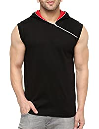 GRITSTONES Men's Cotton Hooded Solid Vest