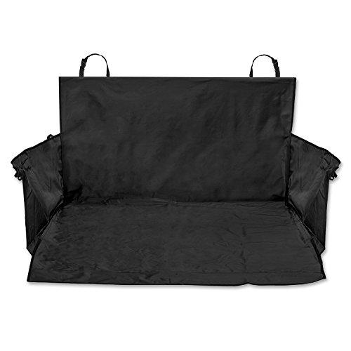 TECAROO Universal-Kofferraumdecke mit Seitenschutz, schwarz | 2 Jahre Zufriedenheitsgarantie | Auto-Schondecke, Kofferraum-Schutzdecke für Hunde
