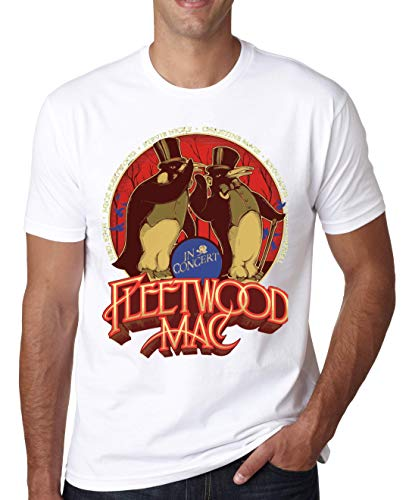 Bonang Fleetwood Rumours Mac Herren T-Shirt X-Large - White Tuxedo T-shirt