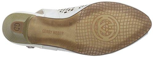 Gerry Weber - Kitty 03, Scarpe col tacco con cinturino a T Donna Bianco (Weiß (weiss 000))