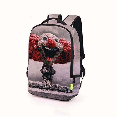 Blwz Schulrucksack 3D Explosion Clown Gedruckt Mode Schultasche Für Jugendliche Jungen Mädchen Bookbags Frauen Männer Unisex Travel Laptop Rucksack